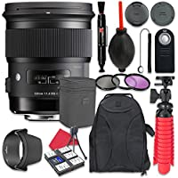 Sigma 50mm f/1.4 DG HSM Art Lens for Canon + Accessory Bundle