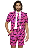 Opposuits Men's Summer Suit - Tropicool - Includes Shorts, Short-Sleeved Jacket & Tie