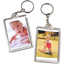 Photo Key Chains wallet size 1 in. x 2 in. photo 12/Pk