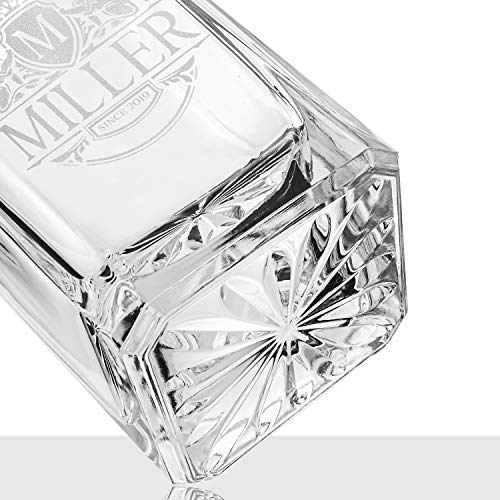 Amazing Items Personalized 750ml Whiskey Decanter – 9 Design Options – Limited Edition Custom Liquor 25 oz, 750ml…