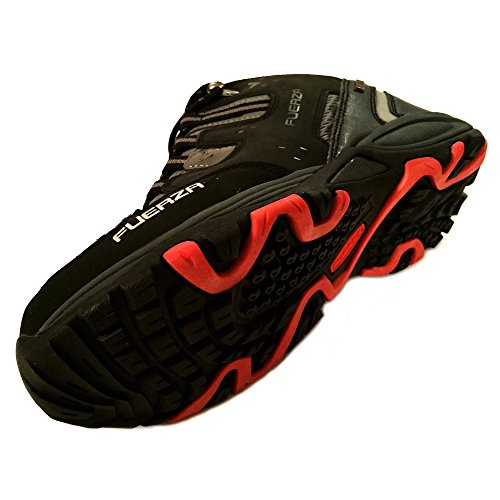 Fuerza Mens Outdoor Tracking Hiking Trail Running Shoes - Black (9.5)