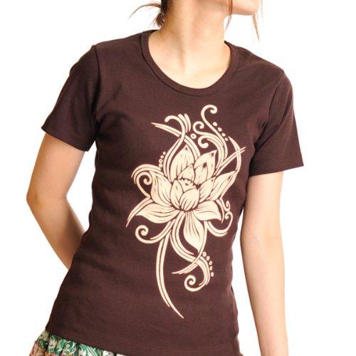 近々比率発掘するMARAI(マーライ) 半袖Tシャツ定番が使いやすい。 ロータスプリント Tシャツ