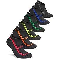 Tesla Men's 6-Pack Atheltic No Show Socks Cushioned Comfort w Mesh TM-MZS04 / MZS05 / MZS06