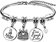 Birthday Charm Bracelets for Women Girls Birthday Gifts for Her Christmas New Year Ages 10 to 70