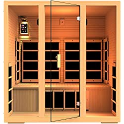 JNH Lifestyles Joyous 4 Person Far Infrared Sauna 9 Carbon Fiber Heaters 5 Year Warranty (MG415HB)