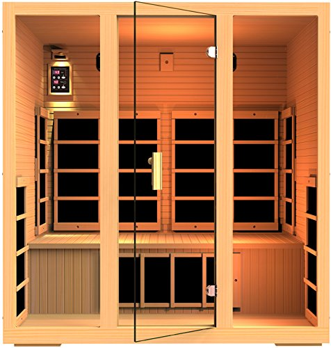 JNH Lifestyles Joyous 4 Person Far Infrared Sauna 9 Carbon Fiber Heaters 5 Year Warranty