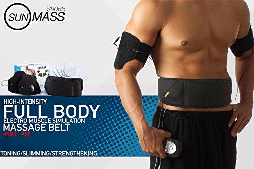 Price comparison product image Sunmass 9065 Full Body Electronic Muscle Stimulation Toning Massager with Massage Belt - ABDOMINAL BUNDLE ONLY