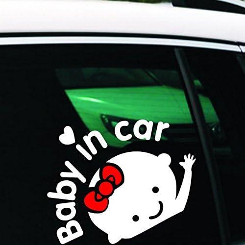 Sedeta Waterproof Vinyl Decals Reflective Bumper Stickers Girl Baby On Board Baby in car Window Car Sticker Auto Girl Baby On Board Baby in car Window Car Sticker Auto Truck Waterproof Vinyl Decals