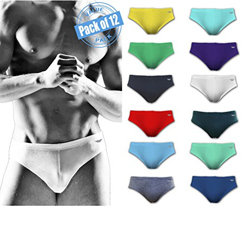 American Active 24/7 Basics Men's 12 Pack Sport Bikini Briefs (2X-Large (44-46), 12 Pack - Assorted Solid Colors)