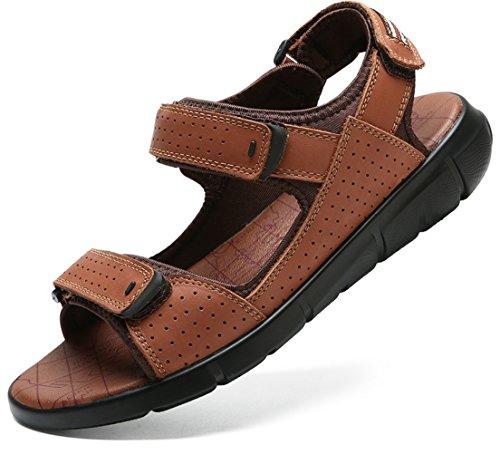 Marron pour en Cool Sandales D'été Respirant Plein Mode SandalsZHANGM De Conduite De Marche Et Air en Respirant De LIANGXIE Occasionnels Chaussures Randonnée Cuir Sandales Hommes wPfStS