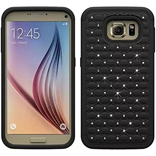 Galaxy S7 Case, E-weekly(TM) [Dual Layer] Studded Rhinestone Crystal Bling Hybrid Defender Armor Protective Case Sales