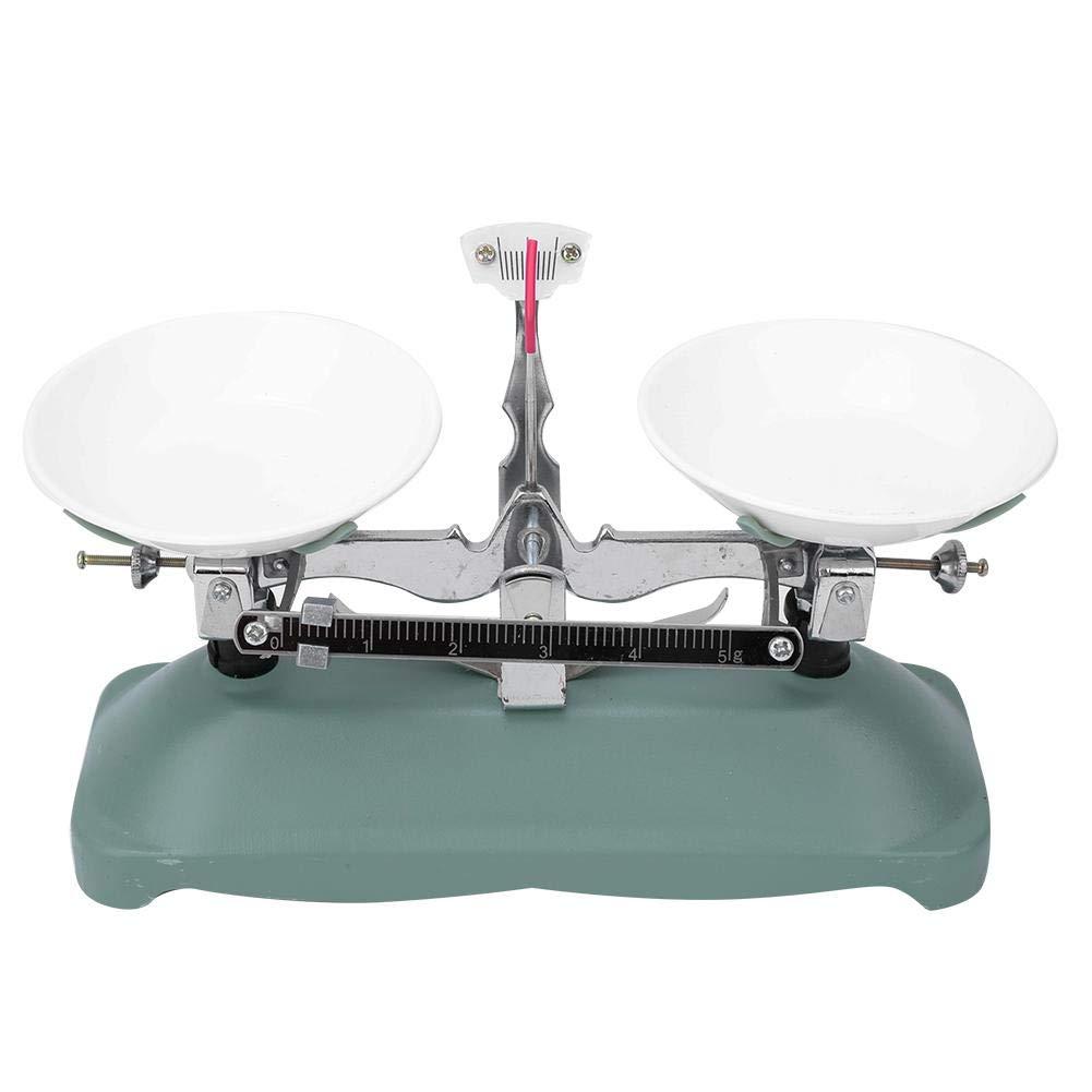 Báscula de equilibrio mecánico de 100/500 gramos con 5 g, 10 g, 20 g, 50 g, 100 g, 200 g Pesas para la herramienta de suministros de laboratorio de accesorios para experimentos de física escolar(100g)