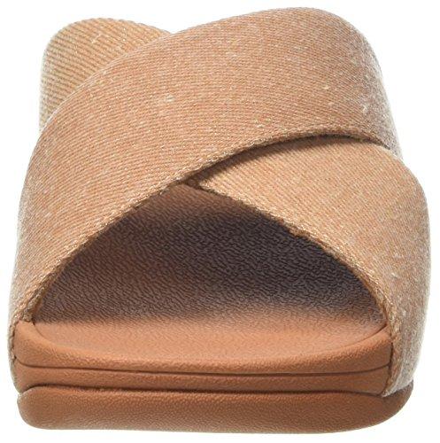 Donna Cross denim Beige Infradito Lulu beige Slide Shimmer Fitflop TIqASA