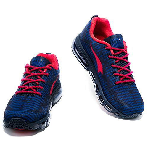 Bleu foncé Rhythm de Running Rouge Chaussures Baskets Sneakers Femme Respirante Air Sports Homme Onemix Course fvUOqwY7H
