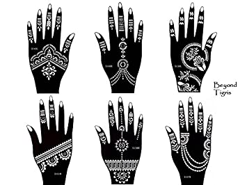amazon com tattoo stencil template set of 6 different sheets henna