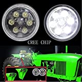 Lantsun 4.5 inch 18W Round CREE Flood LED Work Lights For John Deere's tractor(2 PCS)