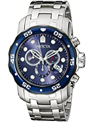 Invicta Mens 80057 Pro Diver Stainless Steel Watch with Blue Dial