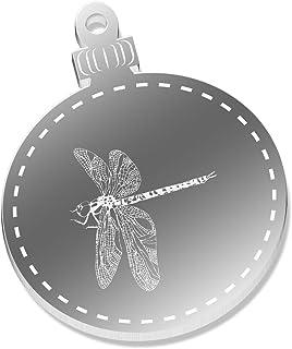 Azeeda 2 x 52mm 'Libellula' Piana Specchio Decorazione Natalizi (CB00058849)