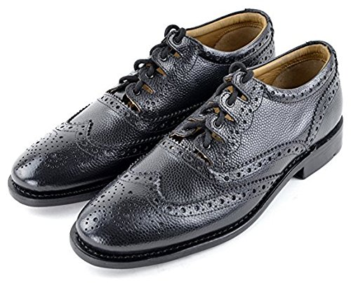 - AE Struthers - Thistle Executive Grained Leather Custom Grade Good Year Welted Ghillie Brogue