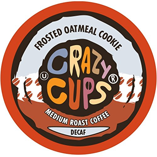 Crazy Cups Flavored Decaf Coffee, for the Keurig K Cups Coffee 2.0 Brewers, Frosted Oatmeal Cookie, 22 Count (Cookie Cup)