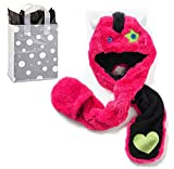 SO Big Girls' Monster Faux-Fur Hat and Bag - 2 Piece Gift Set