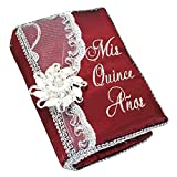 Select Quinceanera Photo Album Guest Book Kneeling Tiara Pillows Bible Q3160 (English Bible)
