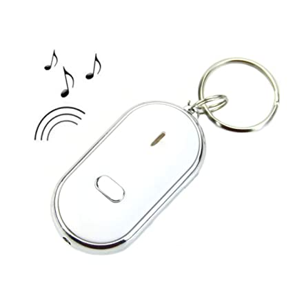 LKXHarleya Anti Lost Key LED Llavero Sonido Whistle Control ...