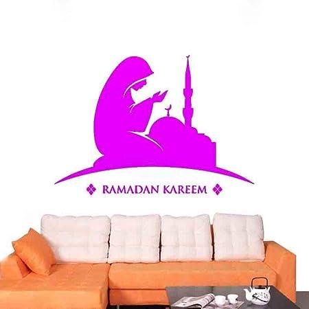 zqyjhkou Ramadan Kareem Tatuajes de Pared Cita de Muselina Eid ...
