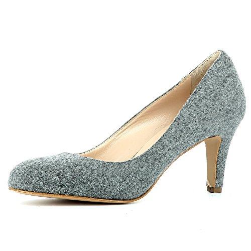 caño ShoesBIANCA Evita Mujer gris medio dx5BXUq