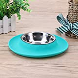 Jocestyle Pet Dog Stainless Steel Bowl Silicone Non-Slip Mat Cat Feeding Bowl Pad Review