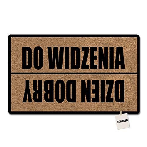 SGBASED Door Mat Polish Goodbye Doormat Do Widzenia Dzien Dobry Mat Rubber Non-Slip Entrance Floor Mat Outdoor & Indoor Rug Doormat Non-Woven Fabric (23.6 X 15.7 inches) ()