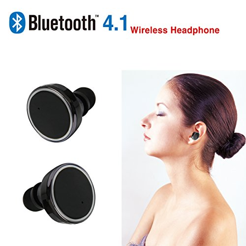Bluetooth Earphones True Wireless Stereo Earbuds,TEQStone Mini In-Ear Headset for iPhone 7/7 Plus 6/ 6 Plus 5s 5c 5 4s, Samsung Galaxy S6 Edge S6 and Other Phones