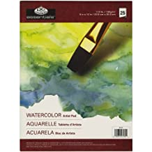 Royal Brush and Langnickel 25-Sheet Watercolor Essentials Artist Paper Pad, 9-Inch by 12-Inch