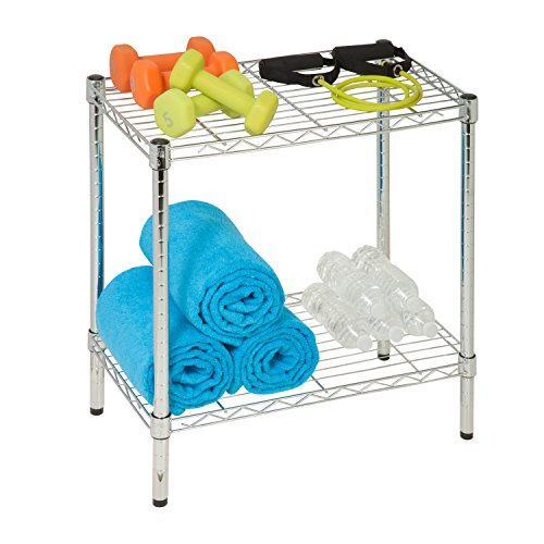 - Honey-Can-Do SHF-04059 2-Tier Steel Utility Shelf, Chrome, 13.5L x 23.5W x 22.25H