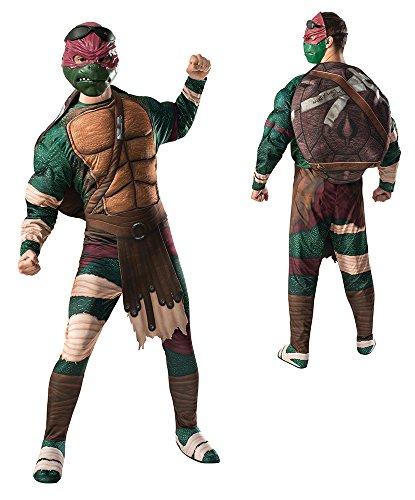 Adult Raphael Costumes (Rubie's Costume Men's Teenage Mutant Ninja Turtles Movie Deluxe Adult Muscle Chest Raphael, Multicolor, Standard)