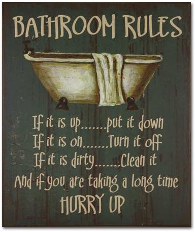 Amazon.com: Decorativo Estilo Antiguo cuarto de baño normas ...