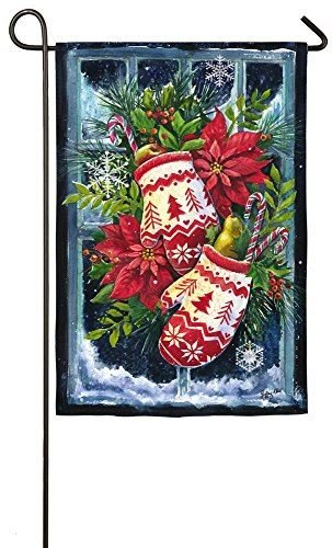 Evergreen Norwegian Christmas Mittens Satin Garden Flag, 12.5 x 18 inches (Norwegian Mittens)