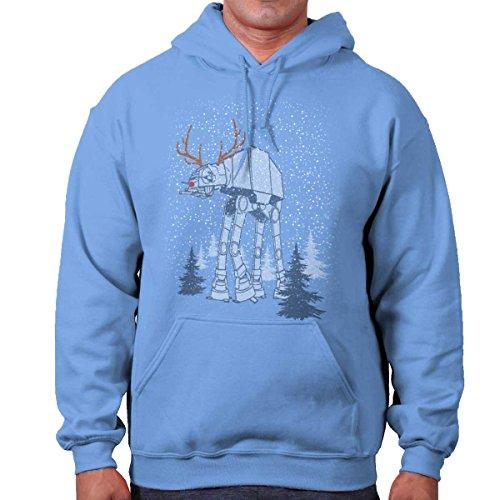 Star Wars Rudolph at at Reindeer Santa Funny Christmas Hoodie Sweatshirt by Brisco Brands