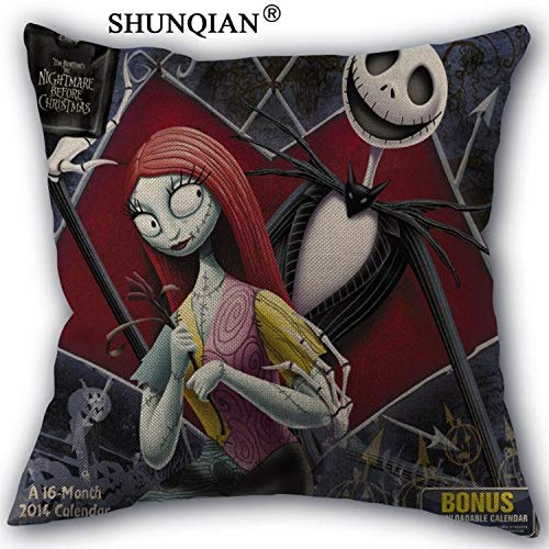 CHITOP The Nightmare Before Christmas -Custom Cotton Pillowcases Zipper Custom Pillow Case More Size Custom Your Image Gift (45x45cm one Side) (Pillowcase (4)) ()