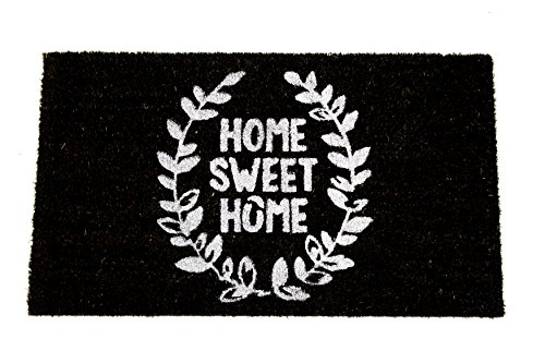 Home Garden Hardware 34007 Leaf Home Sweet Home Printed Coir Doormat,Natural,Small