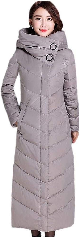 YZ-HOD Womens Down Jacket Winter New Long Knee Slim Fit Warm Skirt White Duck Down Jacket