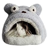 Alfie Pet by Petoga Couture - Tobin Sleeping Cave Bed for Small Animals like Dwarf Hamster and Mouse - Color: Grey