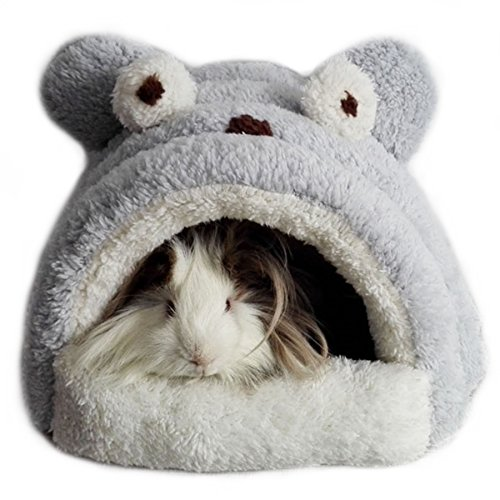 Alfie Pet by Petoga Couture – Tobin Sleeping Cave Bed for Small Animals like Dwarf Hamster and Mouse – Color: Grey