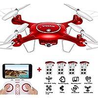 SYMA X5UW WIFI Pocket Drone, 720P HD FPV Camera Pocket Drone, Headless Mode 0.3MP 2.4G 4CH 6-Axis Gyro RTF RC Quadcopter