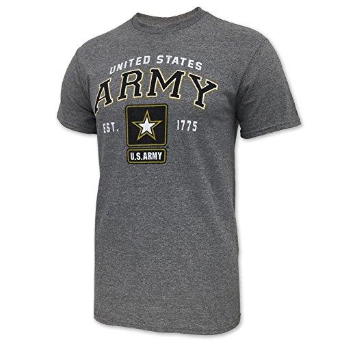 Army Star Est. 1775 T-Shirt, x-large, grey