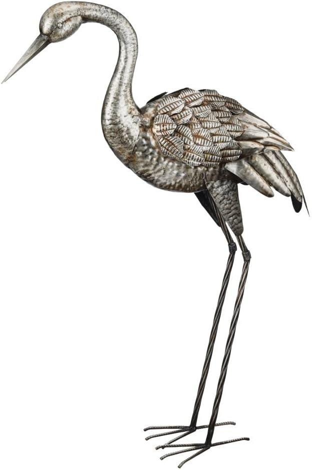 """Regal Silver Crane Decor 35"""" - Down"""