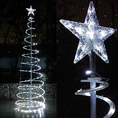 Spiral Lighted Trees For Outdoors in US - 8