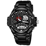 Police Men's Watch Analog Chronograph Dual Time Cool Watches for Boy Black