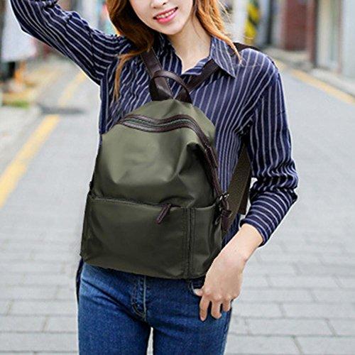 Espeedy 2017 moda de nylon de ocio mochila de las mujeres y la Universidad viento impermeable estudiantes Joker mochila verde