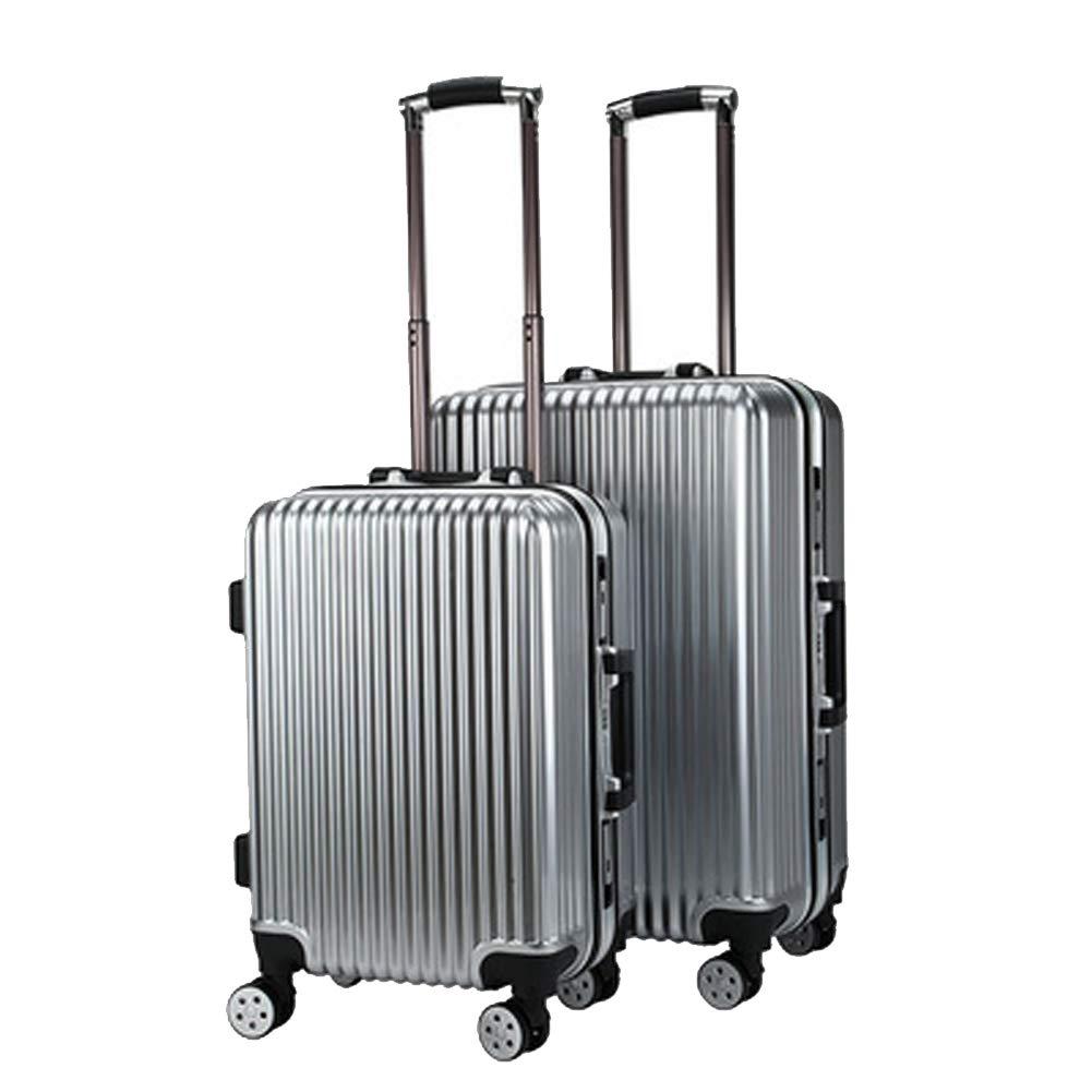 アルミフレームトロリーケース、防水性とウェアラブルトラベルケース、ユニバーサルホイールスーツケース、旅行荷物、無地スーツケース、 Small gold B07QS5ZDDQ